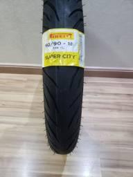 Pneu Pirelli SuperCity Sem Câmara 90/90-18 - Novo - Traseiro - Titan 160