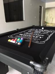 Mesa de Bilhar Charme Preta Tx Personalizada Modelo UJH6584