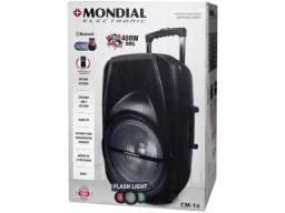 Caixa De Som Amplificada Mondial 400w Cm-14 Preto - Bivolt