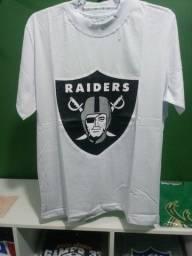 Camisa Raiders NFL Branca Masculina