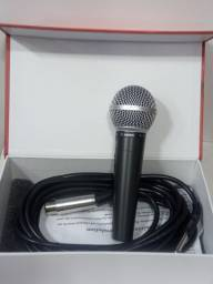 Microfone para karaoke Prata