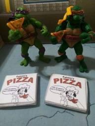 Tartarugas Ninja Donatello e Michelangelo como novos, sem as arminhas