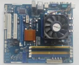 Kit placa mae DDR3/DDR2 Modelo asrock n68c-m