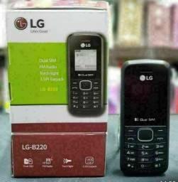 Celular LG B220 Dual Rádio Lanterna Entrada Antena Rural Ori