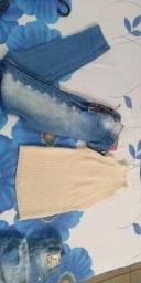 Calça jeans e blusa
