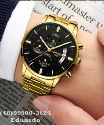 Relógio Importado Nibosi Luxo! A prova d'Agua Modelo Exclusivo