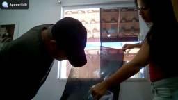 Aplicação de pelicula filme em vidros