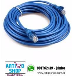 Cabo De Rede Rj45 Ethernet Internet Azul 20 metros