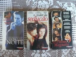 Lote com 26 Filmes em formato VHS bem conservados
