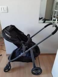 Carrinho + base e bebê conforto