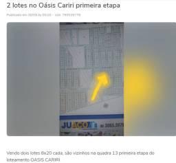 Terreno 16x20 no Loteamento Oasis Cariri