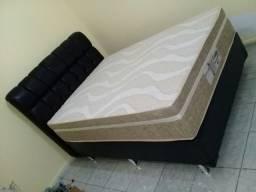 ::Conjunto Cama Box Colchao Evolution Probel Casal (138x188) Confira;;