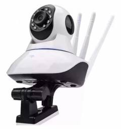 Câmera Segurança Ip 3 Antenas Wireless  Sem Fio Wi-fi Hd