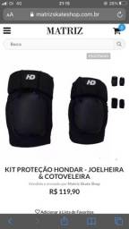 Kit proteção e Capacete