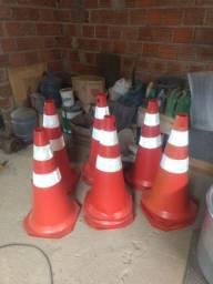 5 cones de sinalização