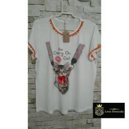 T-shirt feminina Cat Love