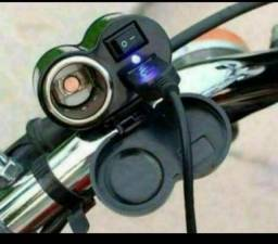 Promoção carregador de celular para moto facilito até  líder da pedreira