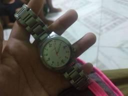 Relógio lince prata 200$