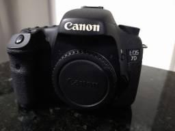 Camera, lente e bolsa