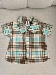 2 blusas de botões bebe