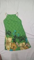 Vestido verde estampa floral