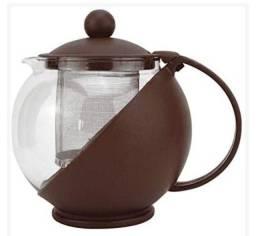 Chaleira para Chá com Filtro Plástico e Vidro