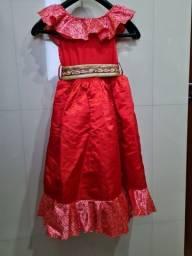 Título do anúncio: Vestido original Disney Elena de Avalor tam 5/6