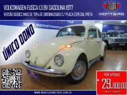 Volkswagen Fusca 1.3 8v Gasolina Raridade c/ Placa Especial Preta