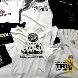Kit 8 Camisa Santos Torcida Jovem Algodão Futebol