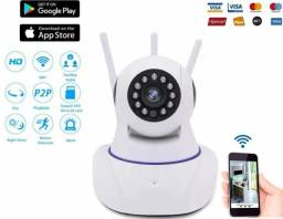 Câmera IP 3A, Babá Eletrônica Wifi, Visão Noturna, Android, Iphone Wi-fi