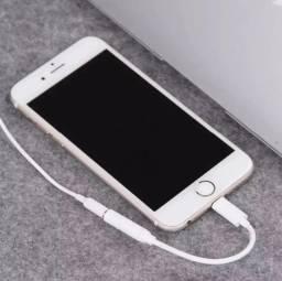 Adaptador P2 Para iPhone X Xs Xr 8 7 Fone P2 Lightning