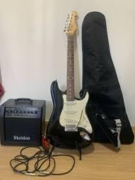 Guitarra Shelter California Deluxe + Amplificador