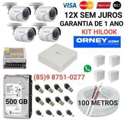 Título do anúncio: Câmeras... kit de 4 câmeras HILOOK em 12X SEM JUROS.