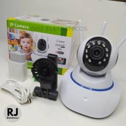 Título do anúncio: Câmera IP 3 Antenas WiFi com Visão Noturna Sistema Yoosee