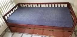 Sofá-bicama com um colchão
