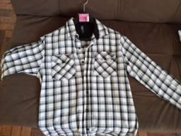 Camisas xadrez flanela
