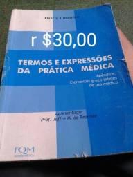 Livro termos e expressões da prática médica,seminovo,r$30,00