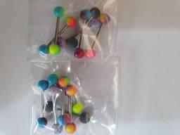 Pincing para lingua em aço cirurgico kit com 12 unidades