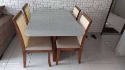 Título do anúncio: Mesa 4 completa pronta entrega de madeira e acabamento laka
