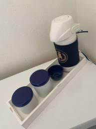 Título do anúncio: Kit higiene do ursinho príncipe de cerâmica