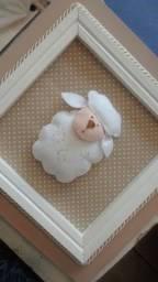 Título do anúncio: Kit de quadrinhos decorativos para quarto de bebê no tema ovelhinha.