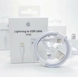 Título do anúncio: Cabo Iphone USB Carregador Lightning Na Caixa 1ª Linha Branco 1M