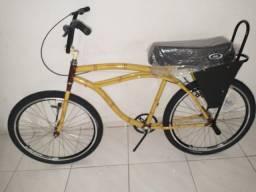 Beach bike bambu com banco de mobilet