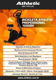 Bicicleta Vertical Profissional Athletic Amazon 1600Bv + Inércia 7 kg + Sensor de Pulso