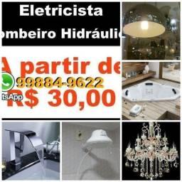 Título do anúncio: Fast-R$30 <Eletricista e Bombeiro Hidraulico Solucoes Em Servicos