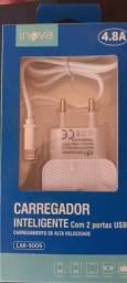 Título do anúncio: CARREGADOR INTELIGENTE COM 2 PORTAS USB