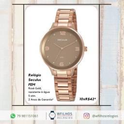 Relógio Analógico Seculus Feminino Original 2 Anos de Garantia com NF
