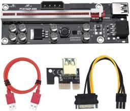 PCI-E Riser VER 009S Plus 1X to 16X Cabo Riser adaptador Mineração Ethereum Bitcoin