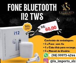 Fone Bluetooth i12 (poucas unidades disponíveis (