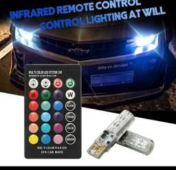 2 Peças Lâmpada Led Com Controle Remoto W5W 501 Para Carro W5W 501 À Prova D 'Água /